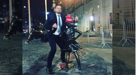 Libs traumatized by guy grinding on 'Fearless Girl' statue
