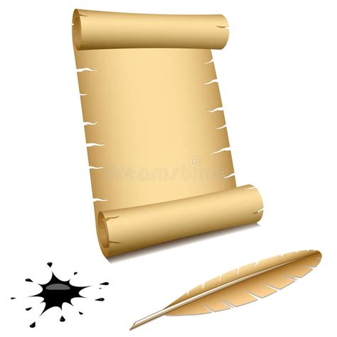 Ancient scroll stock vector