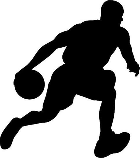 Basketball Low Dribble Silhouette die cut Vinyl decal sticker