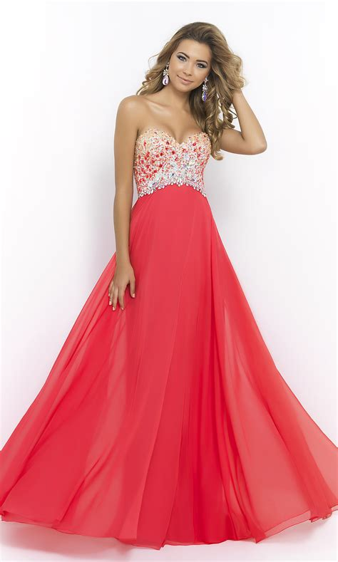Strapless A-line Prom Gown, Blush Long Prom Dress